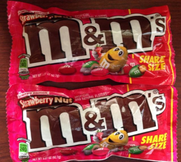 M&M Strawberry Nut Share Size  (US)